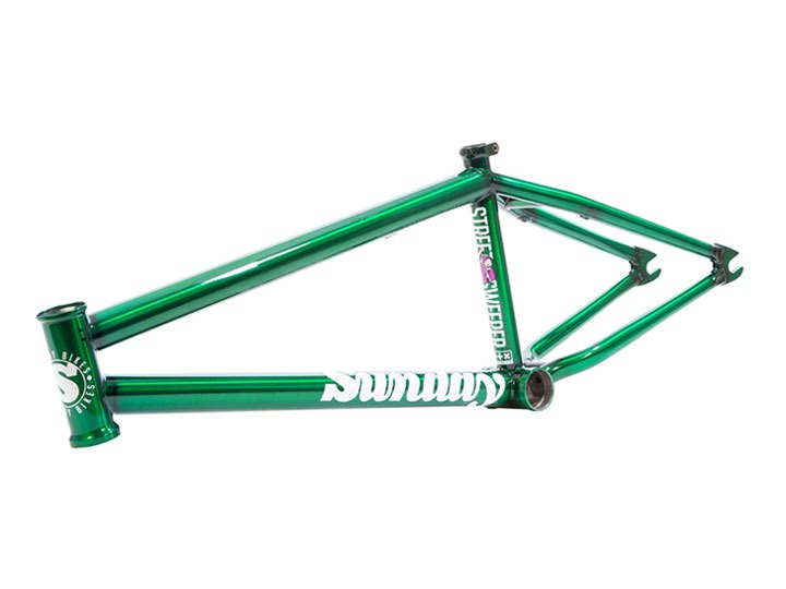 "SUNDAY JAKE SEELEY's STREET SWEEPER BMX FRAME Translucent Slimer Green [20.5""(조기 품절)/ 20.75""TT]"