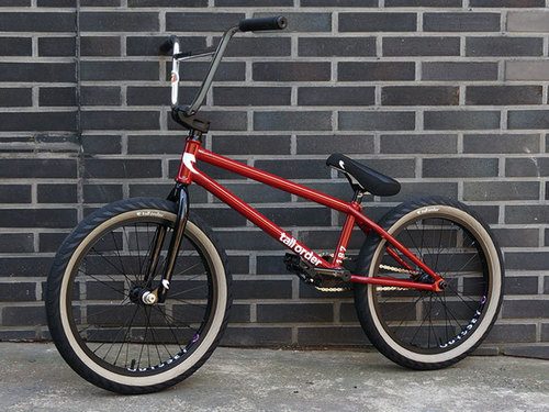 TallOrder187 Red + SUNDAY BUILT by SHREDD 슈퍼 커스텀 BMX