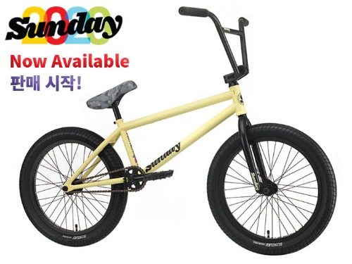 [판매 시작!]2020 선데이 스트리트 스위퍼 STREET SWEEPER 20.75TT BMX -Matte Notepad Yellow- (Jake Seeley model)