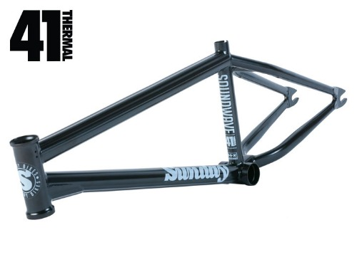 SUNDAY SOUNDWAVE V3 BMX FRAME Rust Proof Black [20.75TT]
