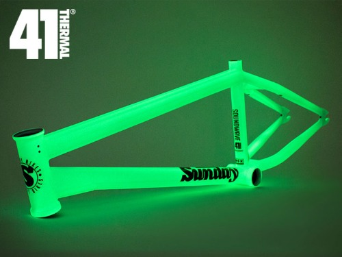[41-Thermal® 20th] SUNDAY SOUNDWAVE V3 BMX FRAME -Glow in the Dark-