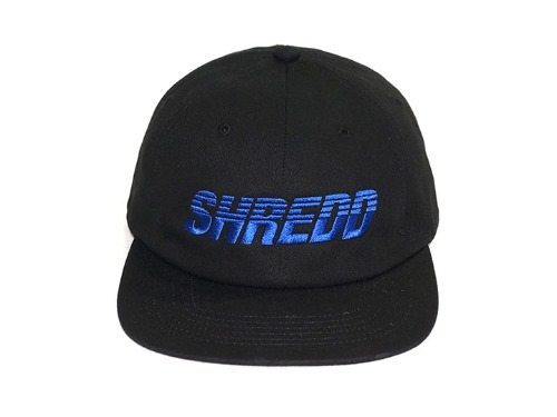 SHREDD 6 PANEL CAP V3 -Black-