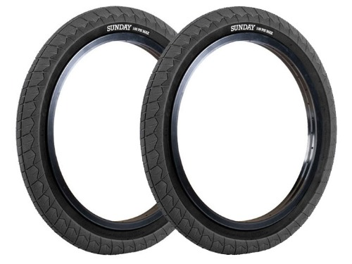 "[6월 재입고]SUNDAY CURRENT V2 BMX TIRE 2.4"" Black [2개 패키지]"