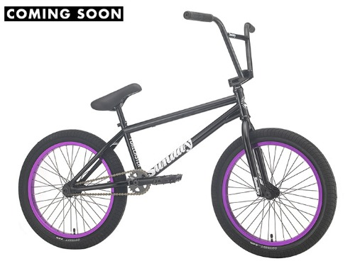 "[7월 25일 입고(예정)]2021 선데이 포어케스터 SUNDAY FORECASTER 'ALEC SIEMON' SIGNATURE 20.75""TT BMX -Gloss Black with Purple Rims-"