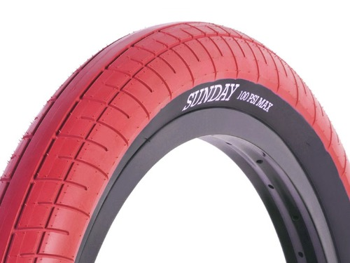 "SUNDAY STREET SWEEPER BMX TIRE 2.4"" Red"
