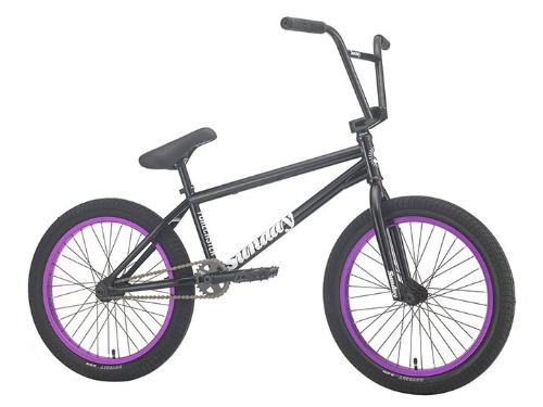 "[조기 품절]2021 선데이 포어케스터 SUNDAY FORECASTER 'ALEC SIEMON' SIGNATURE 20.75""TT BMX -Gloss Black with Purple Rims-"