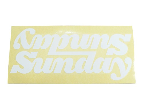 SUNDAY BIG CLASSY CONNECTED DT DECAL - WHITE