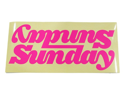 SUNDAY BIG CLASSY CONNECTED DT DECAL - MATTE HOT PINK