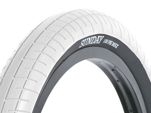 "재입고 STREET SWEEPER BMX TIRE 2.4"" White"