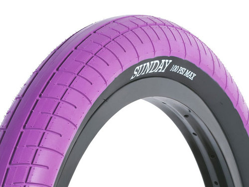 "재입고 STREET SWEEPER BMX TIRE 2.4"" Purple"